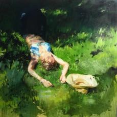 Verde 170x170cm, acrílico y óleo sobre lienzo
