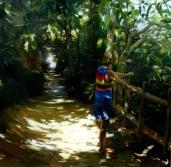 El tunel de Alicia, 180x180cm, óleo sobre lienzo