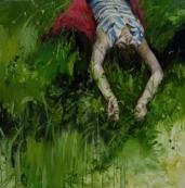 Melodía, 100x100cm, óleo sobre lienzo