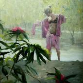 Adelfas, 80x80cm, óleo sobre lienzo