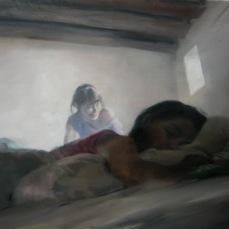 Pasado en frios, 90x116cm,óleo sobre lienzo