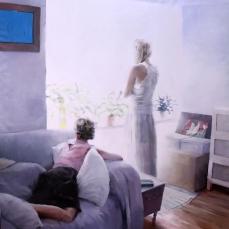 Adiós, 180x180cm, óleo sobre lienzo